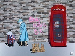 The Graffiti Queen I by Dylan Izaak -  sized 32x24 inches. Available from Whitewall Galleries